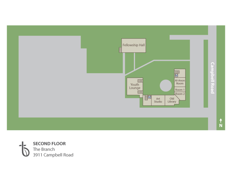 Second Floor, The Branch, Map